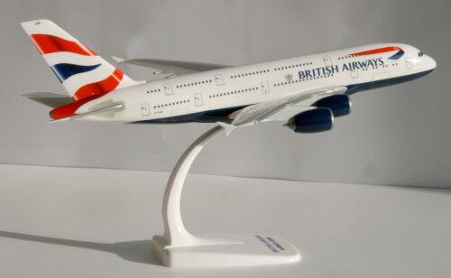 British airways airbus a380-800 1:250 Herpa SNAP-fit 609791 avión modelo a380