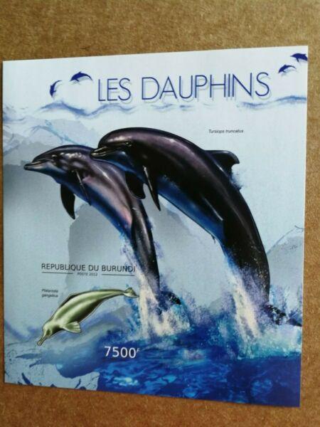 Burundi 2012. Imperforados. Nueva. Delfines