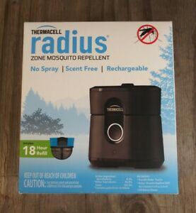 PORTABLE /& RECHARGEABLE! BLACK Thermacell Radius Zone Mosquito Repellent