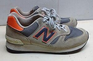 ec7b4dc8a858 New Balance 670 Leather Tan Orange Athletic Sneakers Men s Shoes 8.5 ...