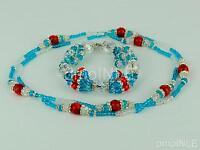 Yemaya Ashaba Ilde Santeria Ifa Orisha Bracelet & Collar Idde Mazo Glass Beads