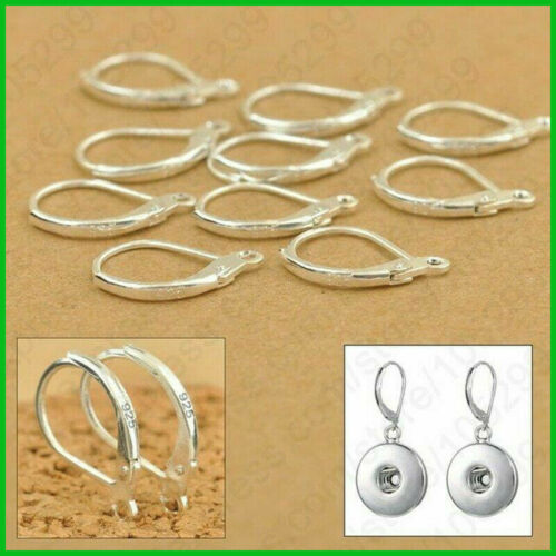 100Pcs Fashion 925 Sterling Silver Earring Hooks Beads For Jewelry Ear Wires Set