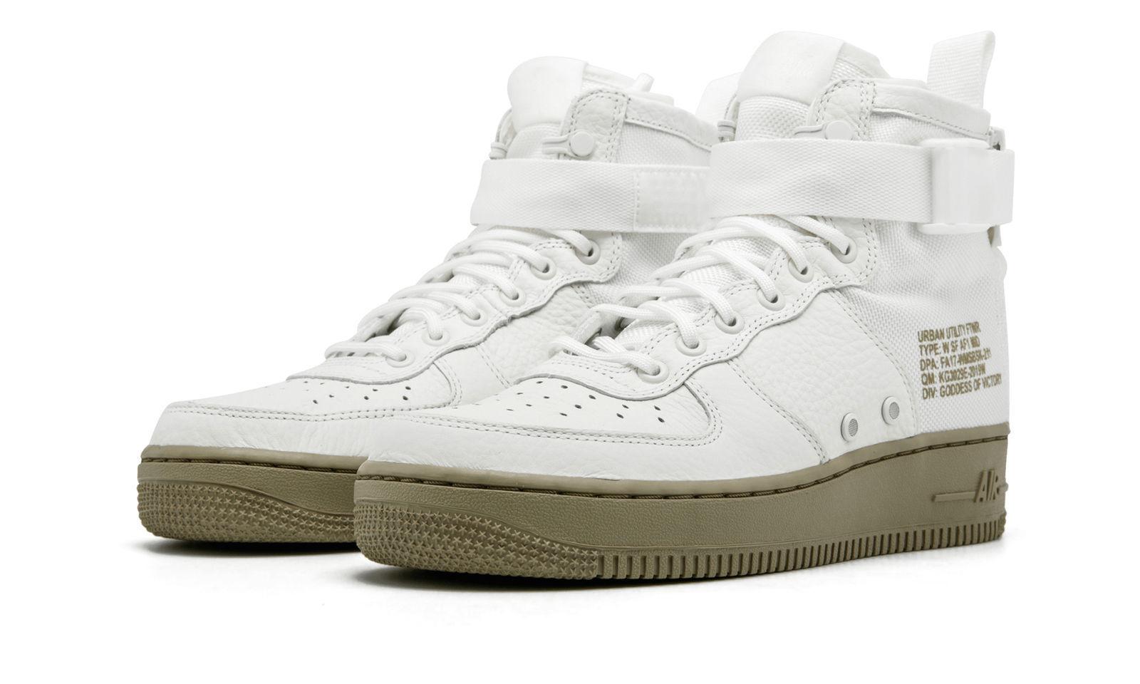 Nike SF AF1 mediados mujer de Marfil Marte Stone mujer mediados zapatillas SZ 9,5 reducción de precio 8e67b2