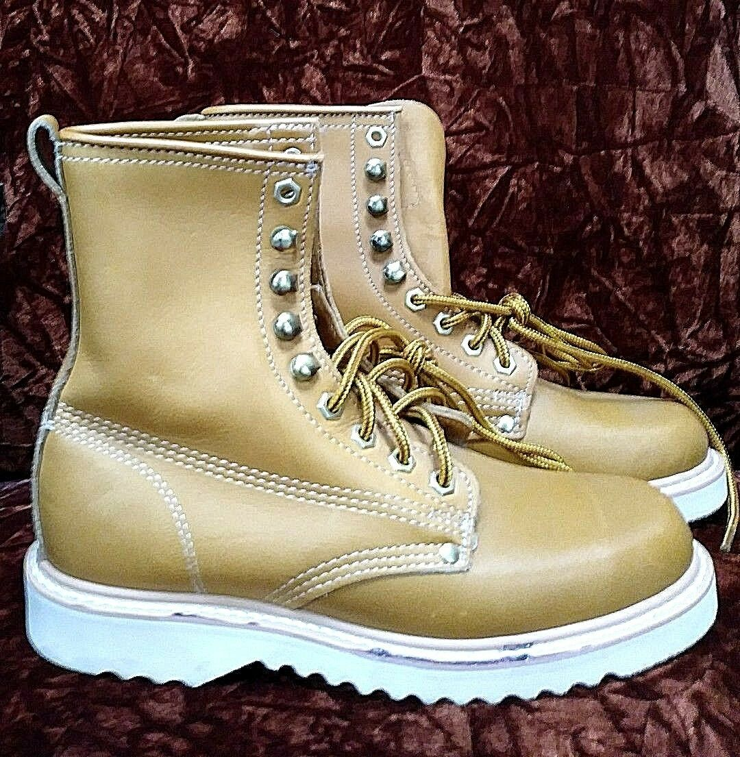 Brand New  THE GORILLA SHOES  Men's Size 6D  TAN LEATHER Lace Up WORK BOOTS Nice