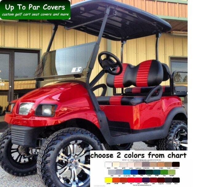 Club Car Pre 2000 Golf Cart Custom Seat Cover Staple On For Sale Online Ebay