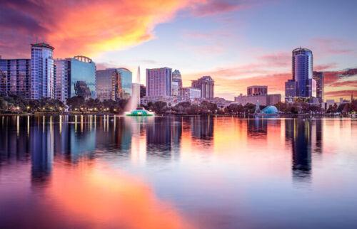 Orlando Florida Black Ballpoint Pen America USA Landscape View Gift #12641