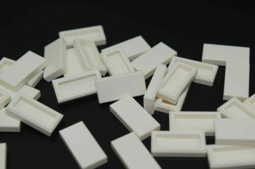 NEW LEGO WHITE 1x2 FLAT TILES 3069 306901 modular moc city smooth floor lot 50