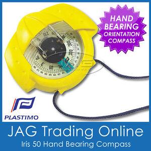 YELLOW PLASTIMO IRIS 50 BEARING COMPASS -Marine/Hiking/Scout/Bush/Orienteering
