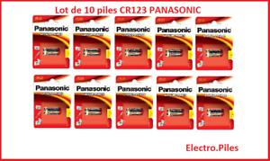 Lot-de-10-piles-speciales-photos-CR123-lithium-Panasonic-livraison-gratuite