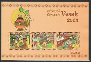 SRI-LANKA-2019-VESAK-DAY-SOUVENIR-SHEET-OF-3-STAMPS-IN-MINT-MNH-UNUSED-CONDITION