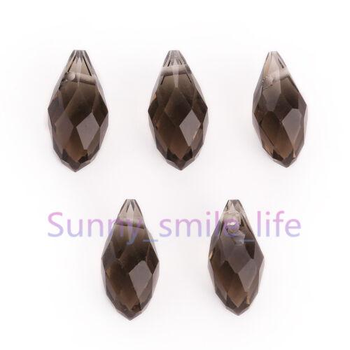 10//30pcs À faire soi-même Bijoux Collier Larme Pendentif Finding Spacer Loose Bead 8x16mm