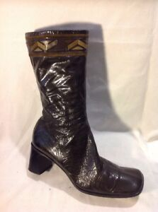 Calf Size S Boots K Mid Brown 6 Shoes Leather wTxHwIv1q