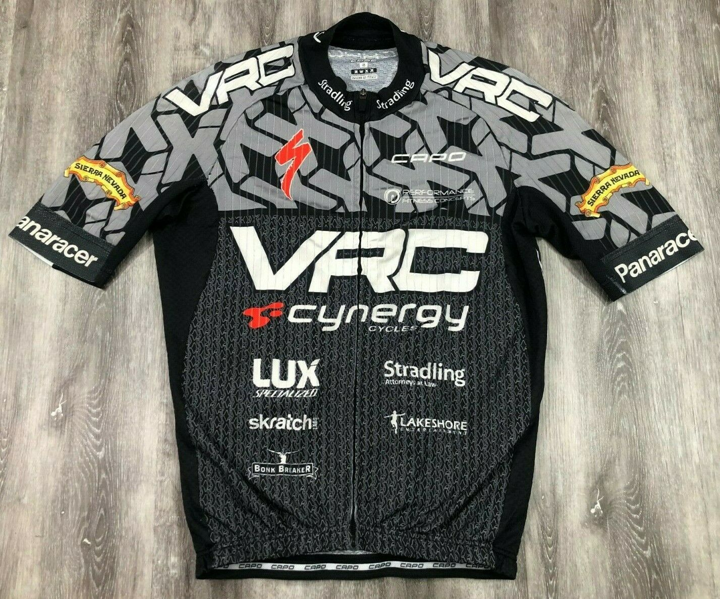 CAPO VRC Cynergy Cycles Short Sleeve Full Zip Bike Cycling Jersey S ITALY