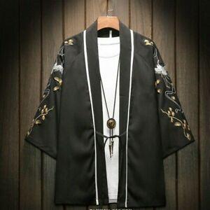 Men-Embroidery-Linen-Kimono-Jacket-Cardigan-Coat-Outwear-Japanese-Ethnic-Casual