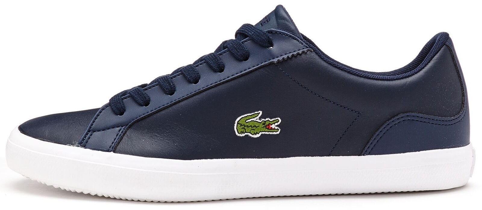Lacoste Lerond BL 1 CAM Leather Trainers in Navy bluee 733CAM1032 003