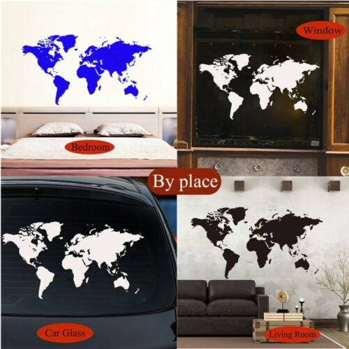 World Map Wall Sticker Decal For House Living Room Decoration Stickers Bedroom