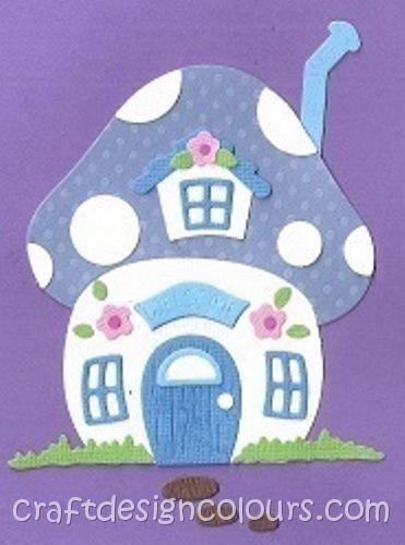 DIE CUT BLUE KIT 1 X MUSHROOM HOUSE
