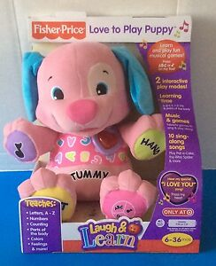 Brand New Fisher Price Laugh Learn Love To Play Puppy Pink