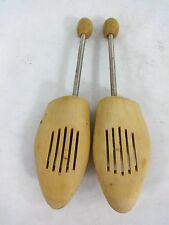 2 VINTAGE NEVCO WEST GERMANY WOODEN SHOE FORMS MATCHED PAIR