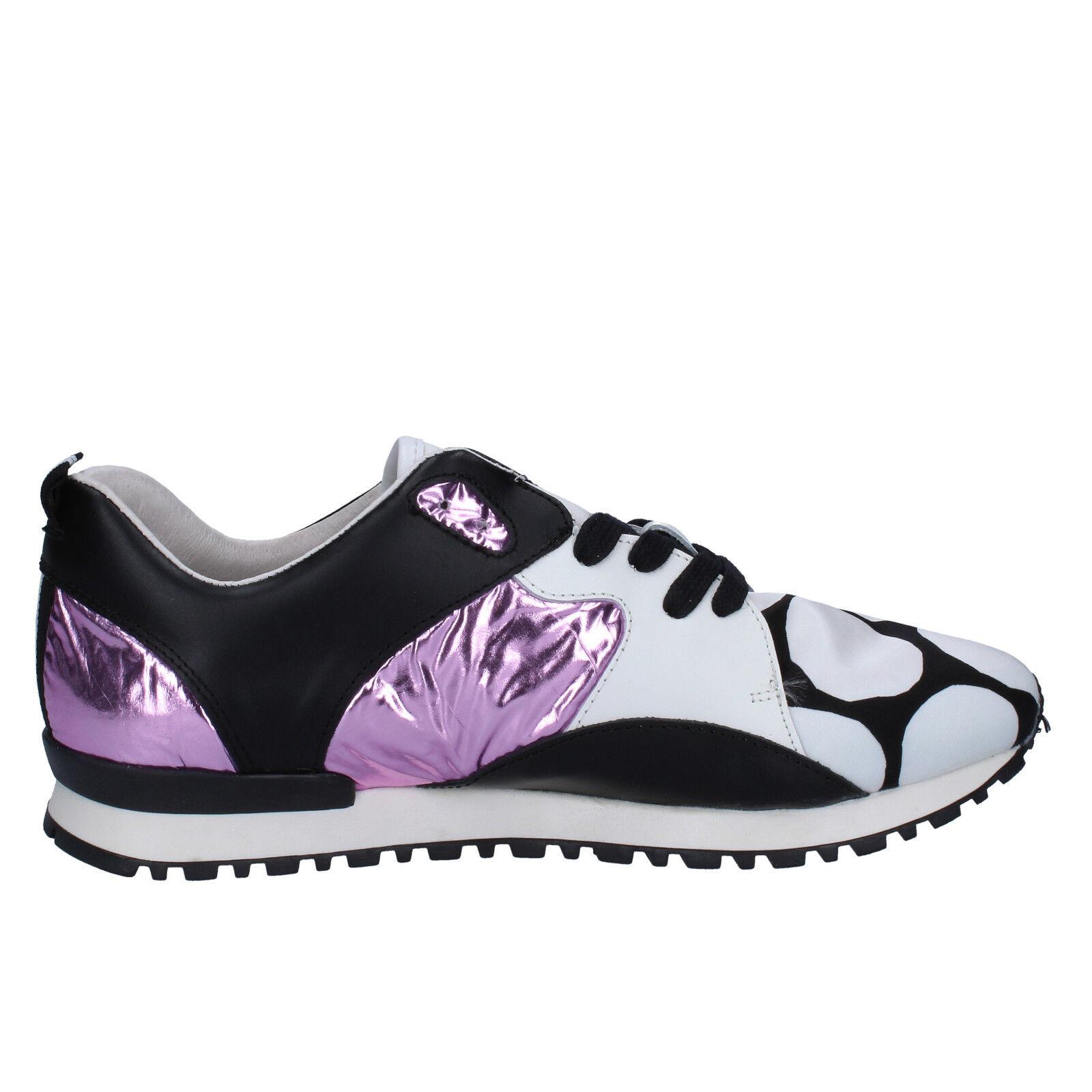 Zapatos seora D.A.T.E. D.A.T.E. D.A.T.E. (Date)  UE sneakers blanco negro de cuero textil bx72- 406d81