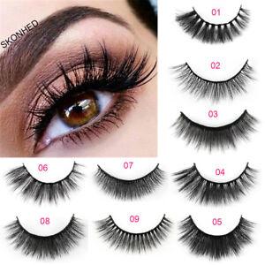 5-Pairs-3D-Mink-Hair-False-Eyelashes-Wispy-Cross-Long-Lashes-Makeup-Soft-Hair