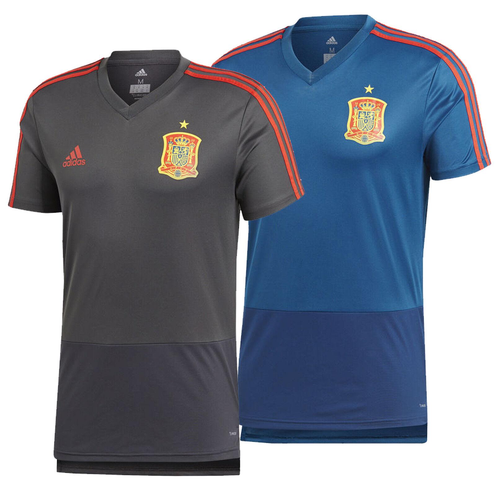 2a2bcdc54da Adidas Spain Training Jersey Climacool Football Top New