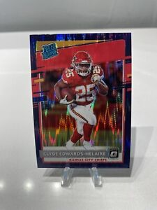 2020 Donruss OPTIC Rated Rookie Clyde Edwards-Helaire Purple Shock SP Prizm🔥
