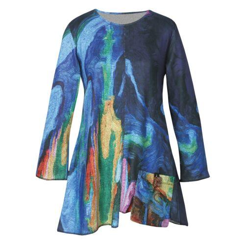 Swirly Colors 3//4 Sleeve Top Jess /& Jane Women/'s Layla Tunic