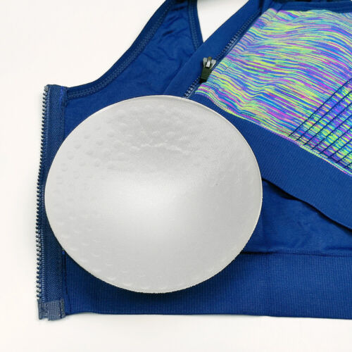 Women/'s Ladies Front Zip Sports Bra High Impact Push Up Wireless Padded Vest NEW