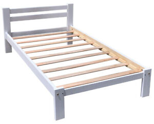 Brand-New-Amazonas-Twin-Size-Single-Bed-White-Finish-Solid-Pine-Wood
