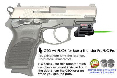 ArmaLaser GTO for Bersa Thunder Pro & UC Pro GREEN Laser w/ FLX06 Grip  Touch   eBay