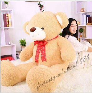63in-Giant-Huge-Big-034-Brown-034-Teddy-Bear-Plush-Soft-Toys-Doll-Gift-Stuffed-Animals