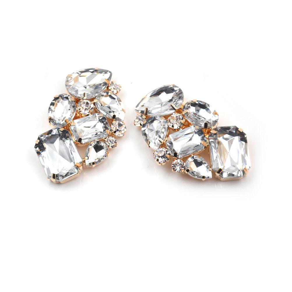 1PCS Shoes Clips Rhinestone Crystal Flower Shoes Buckle Bridal Wedding DecorHU