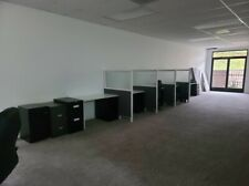 Used Office Cubicles With Attached Filing Cabinet Drawer 4 Unites With 4 Dividers