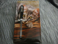 300 Sheet Animal Planet Memo / Note Pad With Gel Pen Kitten Cat Notebook