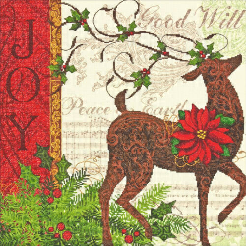 Cross Stitch Kit ~ Dimensions Gold Collection Winter Reindeer #70-08851