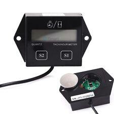 LCD Digital Tach Tachometer Hour Meter For Motorcycle ATV Generator Spark Plug