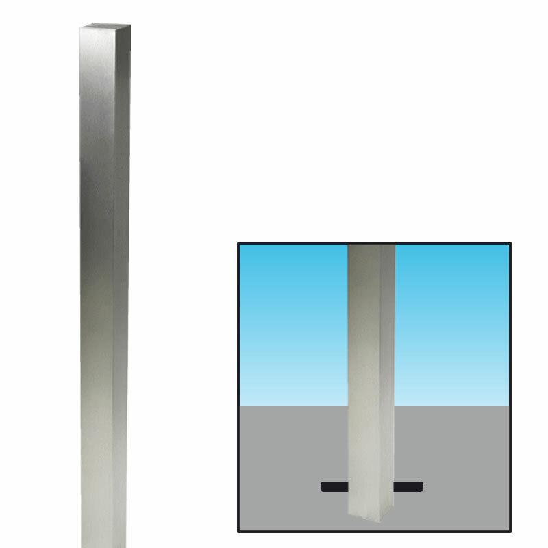 Absperrpfosten verzinkt 70x70mm z. Einbetonieren 101904