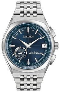 Citizen-Eco-Drive-Men-039-s-Satellite-Wave-GPS-Silver-Tone-44mm-Watch-CC3020-57L