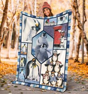 ALL ABOUT PENGUIN Fleece Blanket Print In USA