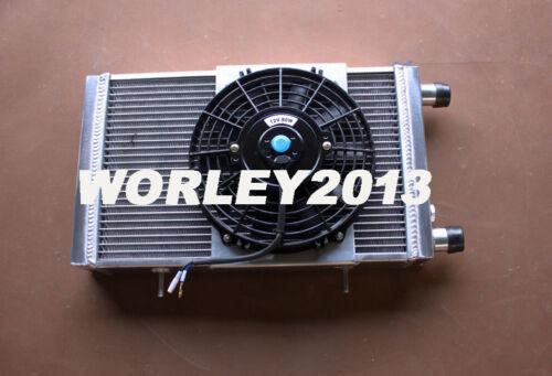 fan for Lotus Europa Coupe S1 S2 TC 1.5 1.6 1966-1976 3 core aluminum radiator