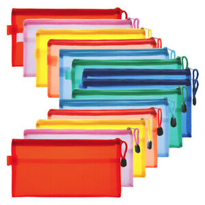 14pcs-Pencil-Pen-Case-Zipper-Pouch-Cosmetic-Bag-Storage-Stationery-Waterproof