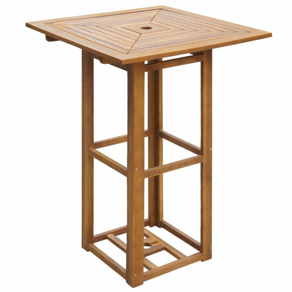 Wood Bar Table Westerly Acacia Outdoor Patio Yard Solidly Made For Sale Online Ebay