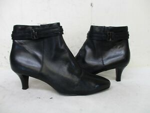 7d2c228487ca2 Cole Haan Black Leather Zip Ankle Boots Womens Size 7 B Style D42371 ...