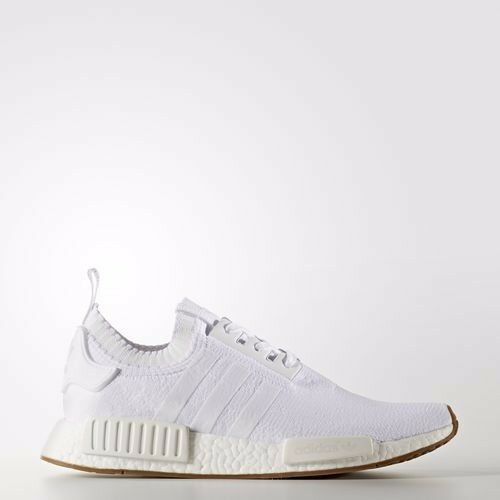 Adidas NMD_R1 Primeknit Shoes Running White Comfortable