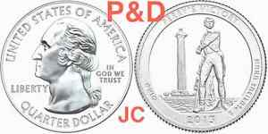 2013-P-amp-D-Perry-039-s-Victory-Memorial-OHIO-STATE-NATIONAL-PARK-QUARTER-BU-MS-MINT