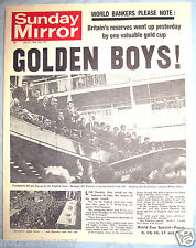 ENGLAND FIFA Win World Cup 1966 Old Newspaper Antique Football Germany Hurst