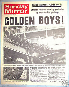 England Fifa Win World Cup 1966 Old Newspaper Antique