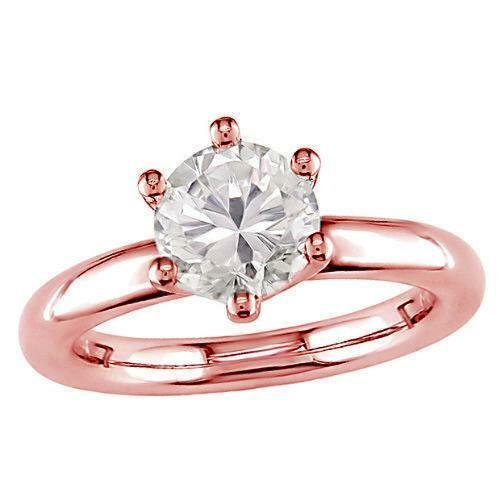 6078c857905f6 Prong Six Ring Engagement Solitaire Diamond Natural Set 0.35Carat ...
