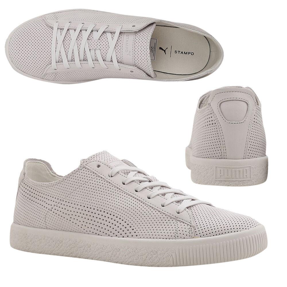 Puma x Stampd Clyde Con Cordones Zapatillas Para Hombre Cuero blancooo 362736 02 M18
